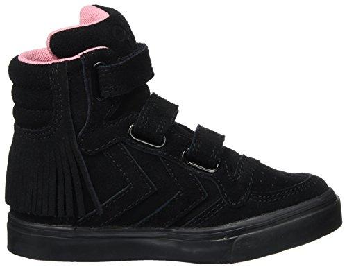 Hummel Mädchen Stadil Fringles Jr Hohe Sneaker Schwarz (Black)
