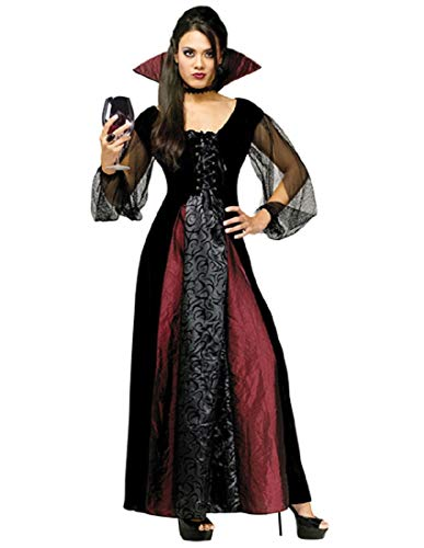FunWorld Goth Maiden Vamp, Black, 10-14 Medium/Large Costume
