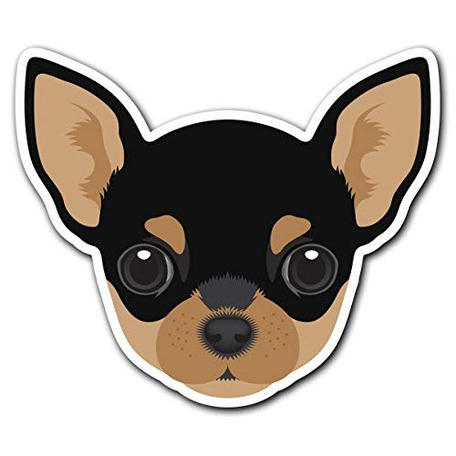 MFX Design Chihuahua - Dog Breed Decal Sticker for Car Truck Truck Car Window Vinyl Bumper Sticker Decal 5.6 in x 4.8 in (14.4 cm x 12.2 cm)