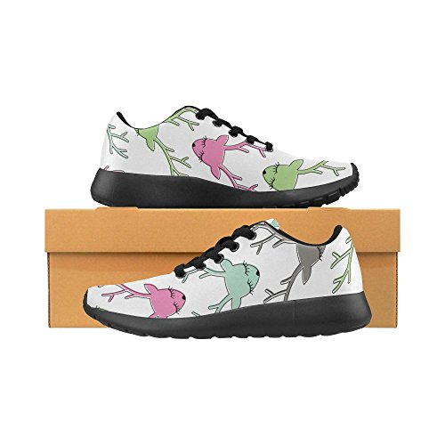 Athletic Skin Lightweight Leopard Running Print Bones Shoes 36 Casual 45 Color3 Paws Womens strawberrie Size Pattern Zenzzle on Dogs Sneakers 4w6RRq