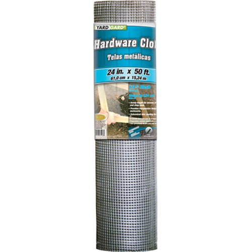 YARDGARD 308247B 24-Inch x 50-Foot 1/4-Inch Galvanized Mesh Hardware Cloth (Welded Mesh Wire)