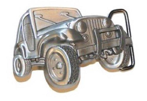 [3D 4X4 Belt Buckle Pewter Wrangler Gift] (Custom Pewter Belt Buckles)