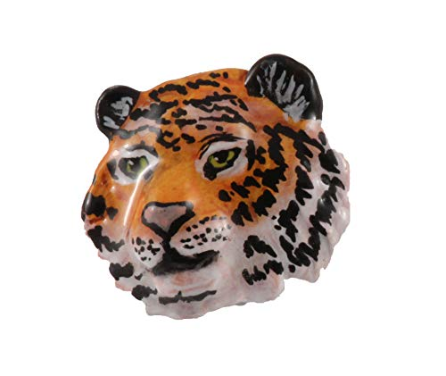 Creative Pewter Designs Tiger Head, Hand Painted Pin, MP108