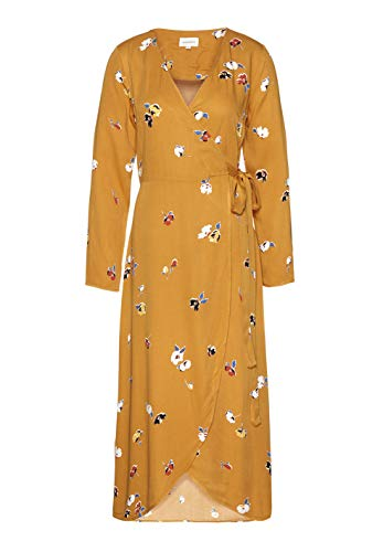 EcoVero Damen Flowers Gold Wickelkleid Fall Yellow armedangels aus Viscose Elke wSqOTITC