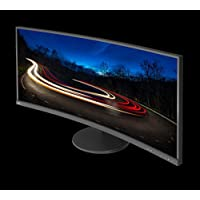 NEC EX341R-BK 34 21:9 Ultra wide Monitor with 3-Sided Ultra-Narrow Bezel and SVA Panel