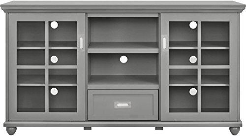 Console Table accommodates a flat panel TV up to 55-inch Gre