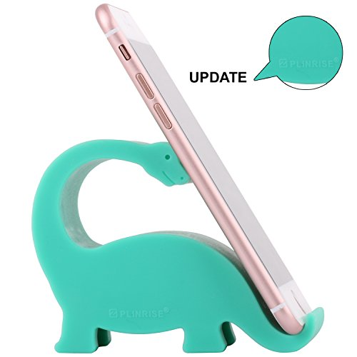 Plinrise Animal Desk Phone Stand, Update Dinosaur Stripe Silicone Office Phone Holder, Creative Phone Tablet Stand Mounts, Size:1.3