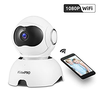 Wireless IP Camera, KidoMe 1080P Security Camera Indoor Home Surveillance Camera with Night Vision Motion Detection Alert 2?Way Audio for Pet Baby Elder with Micro SD Card Slot Pan/Tilt/Zoom by KidoMe
