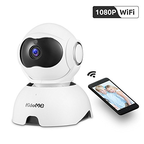 Wireless IP Camera, KidoMe 1080P Security Camera Indoor Home Surveillance Camera with Night Vision Motion Detection Alert 2-Way Audio for Pet Baby Elder with Micro SD Card Slot Pan/Tilt/Zoom
