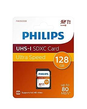 Philips SDXC Card 128GB Class 10, UHS-I U1 - Tarjeta de Memoria SDXC