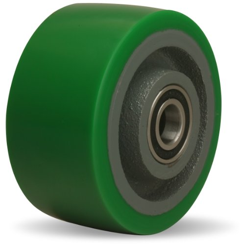 Cast Ball Iron (Hamilton W-420-DB-1/2 Duralast Polyurethane (95A) on Cast Iron Wheel with Sealed Precision Ball Bearing, 4