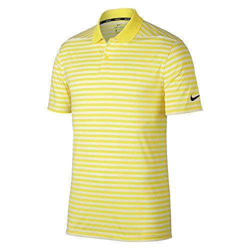 Stripe Golf Polo 2018 Yellow Strike/White/Black Medium ()