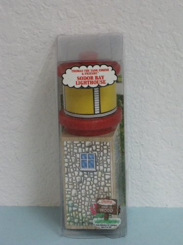 Original Wooden 'Sodor BAY Lighthouse' From Thomas & Friends 1994 1st Year of China Production Original Manufacturer's Packaging. by Thomas & Friends Wooden Railways (Sodor Friends & Bay Thomas)