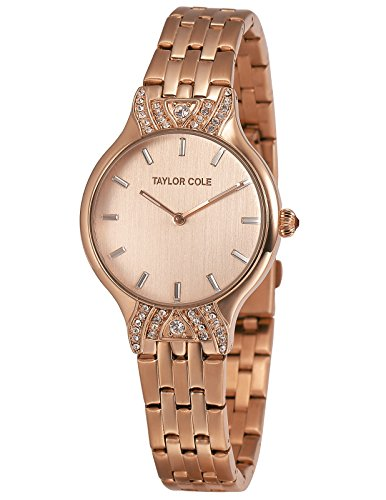 Taylor Cole Echo Ladies' Analog Japan Quartz Rose Gold Stainless Steel Watch TC094