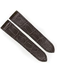 23mm Brown Genuine Alligator Skin Strap Watch Band Fits CARTIER SANTOS 100 XL Non-Chronograph
