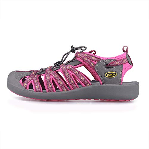 Pictures of GRITION Women Athletic Hiking Sandals Closed Toe 1801BLM 7