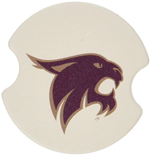 Thirstystone Texas State University San Marcos Car Cup Holder Coaster, 2-Pack