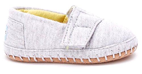 TOMs Unisex Crib Alpargata Shoe Sneakers (Infant), Grey Jersey, 2 M US Infant