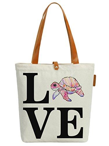 Borsa Da Viaggio Shopper In Tessuto Con Lettere Tortoise Love Love