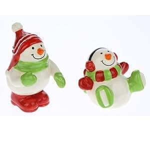 Whimsy Snowmen Salt & Pepper Shakers Set