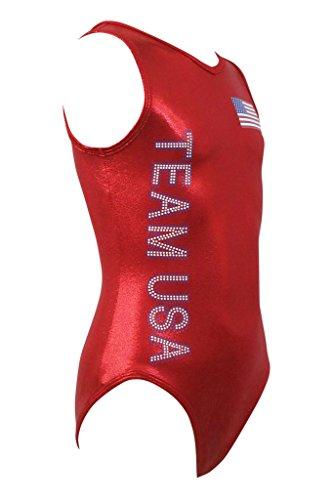 (k-Bee Leotards Girl's Team USA Red Leotard)