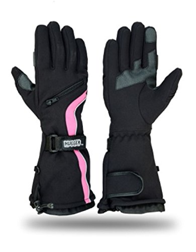 Hugger Glove Company Women's Textile Gauntlet Snowmobile Gloves (Extra Small)