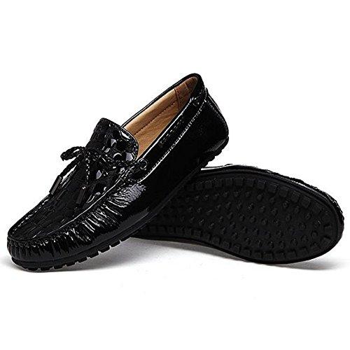 Zapatos de conducción Respirables Negro de Hombres Ocasionales los de Cuero de Zapatos otoño 6w6YqxHr1