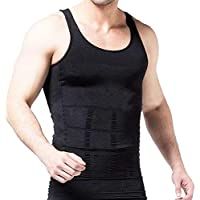 Denim Venim Tummy Tucker Vest for Men, Colour (Black & White)