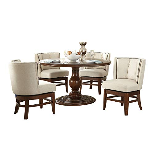 Homelegance 5-Piece Dining Set, Dark Cherry