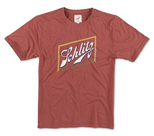 Red Jacket Pabst Schlitz Main Logo Men's Vintage Brass Tacks 2 T-Shirt (Small)