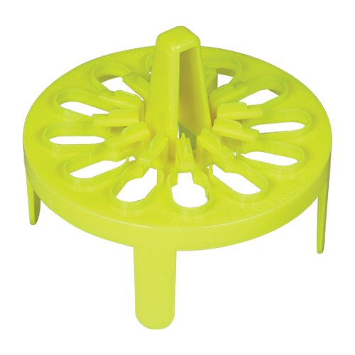 Bel-Art F18742-0123 PrepSafe Microcentrifuge Tube Mini Floating Rack; No Vortexing Attachment, 1.5-2.0ml, 12 Places, Fits 1000ml Beakers, Polypropylene, Neon Yellow