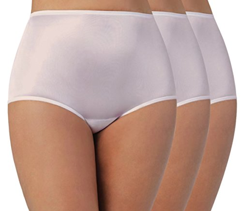 Vanity Fair Women's Perfectly Yours Ravissant Tailored Nylon Brief (Pack of 3),Fawn,4X-Large/11