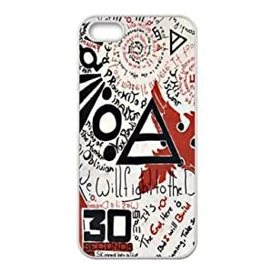 RebeccaMEI 30 Seconds to Mars Hard Plastic Back Case Cover for Apple iPhone 5 5S-TOC-7
