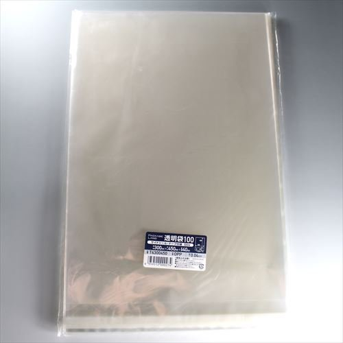 ショーエイコーポレーション 【パッケージランド】 OPP袋 T4300450 厚み0.04mm×袋幅300mm×長さ450mm+折返部40mm 1,000枚 B075WSKP57