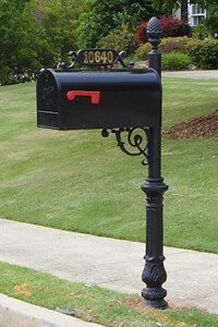 The Charleston Mailbox and Post System - Includes Brass Numbers by Addresses of Distinction