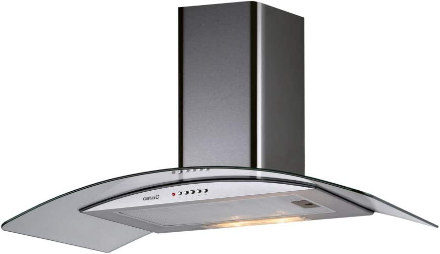 CATA C GLASS 900 400 m³/h De pared Acero inoxidable - Campana (400 m³/h, Canalizado/Recirculación, E, E, D, 62 dB): Amazon.es: Grandes electrodomésticos