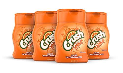 Crush, Orange, Liquid Water Enhancer - New, Better Taste! (4 Bottles, Makes 96 Flavored Water Drinks) - Sugar Free, Zero Calorie