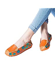 Susenstone Women Leather Shoes Loafers Soft Leisure Flats Female Casual Shoes
