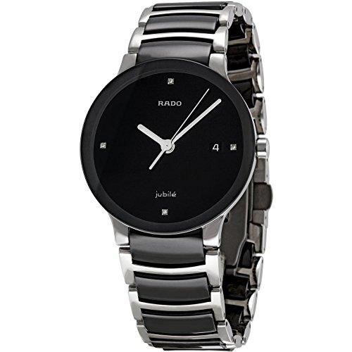 Rado-Womens-R30934712-Centrix-Black-Ceramic-Bracelet-Watch