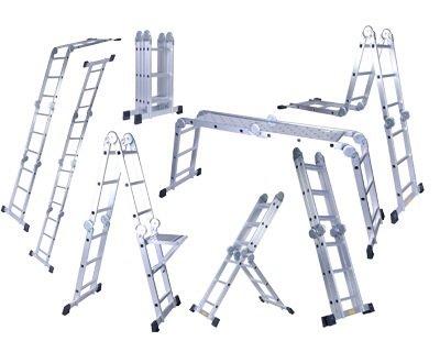Amaze (12 Ft. With Platform) Folding Multipurpose House Hold Industrial Multi Utility Aluminium Step Self Supported Platform Ladder (360 Cm)
