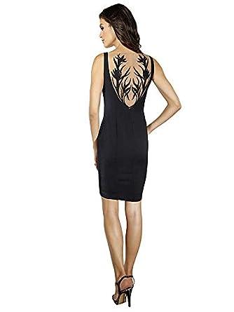 Alba Moda Damen Tattoo-Kleid, schwarz, Atemberaubender ...