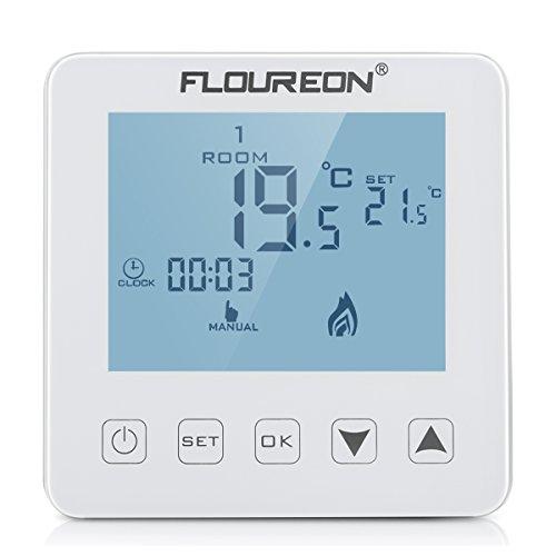 Floureon Raumthermostat Touchscreen Thermostat 16A Wandthermostat ...