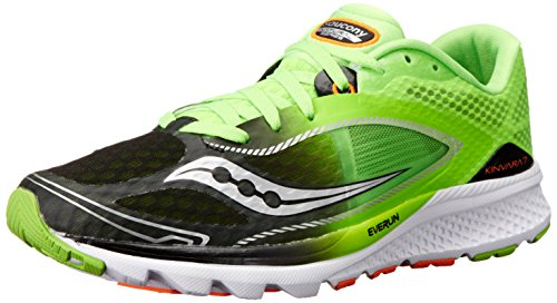 Saucony Men's Kinvara 7 Running Shoe, Slime/Black, 8.5 M US