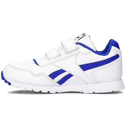 Reebok Royal Glide Syn 2v, Zapatillas de Deporte Unisex Niños Blanco (White / Vital Blue)