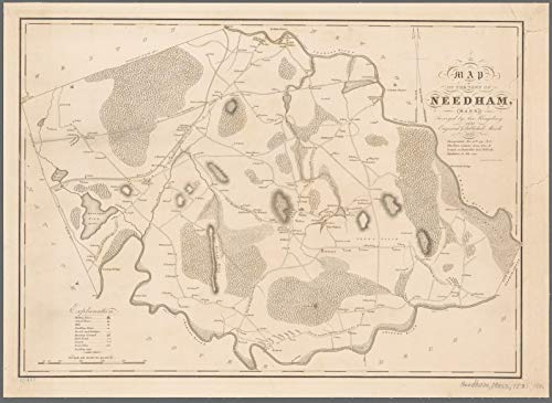 Vintography Reprinted 18 x 24 1836 Map of Boston, Mass. Nova Suecia, Eller The Swenska Revier Now Delaware River in India Occidentalis Publisher not identified 0 0 64a by Vintography