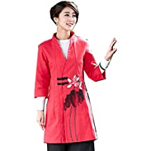 Shanghai Story Chinese Long Trench Coat Women's Blend Linen Chinese Top