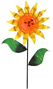 Steven Cooper Metalsmith AFLWR-04-L Artificial Garden Flower on Footed Stake, 5-Feet, Yellow