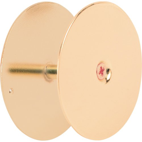 Cover Brass (Defender Security U 9516 Door Hole Cover Plate, 2-5/8 inch Diameter, Brass)