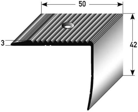 aluminium anodis/é for/é Nez de marche // Corni/ère pour escaliers couleur: or 42 mm x 50 mm