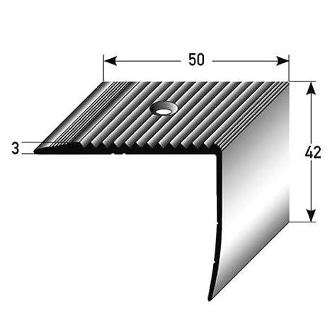 gebohrt von Auer Metall 80 mm x 58 mm aus Aluminium eloxiert Treppenkantenprofil // Kombiwinkel